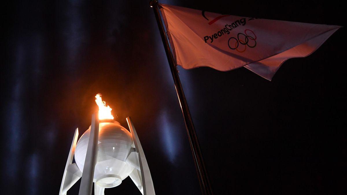 La flamme olympique de Pyeongchang
