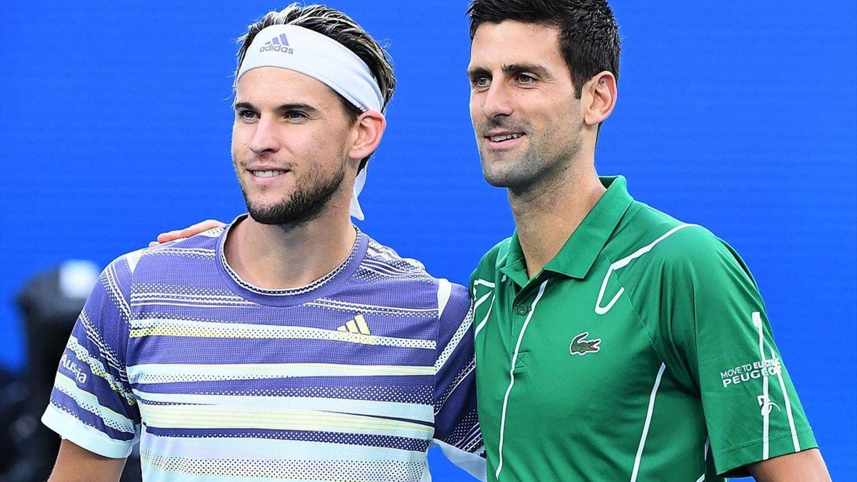 Djokovic și Thiem se înfruntă în prima semifinală de la Turneul Campionilor 2020