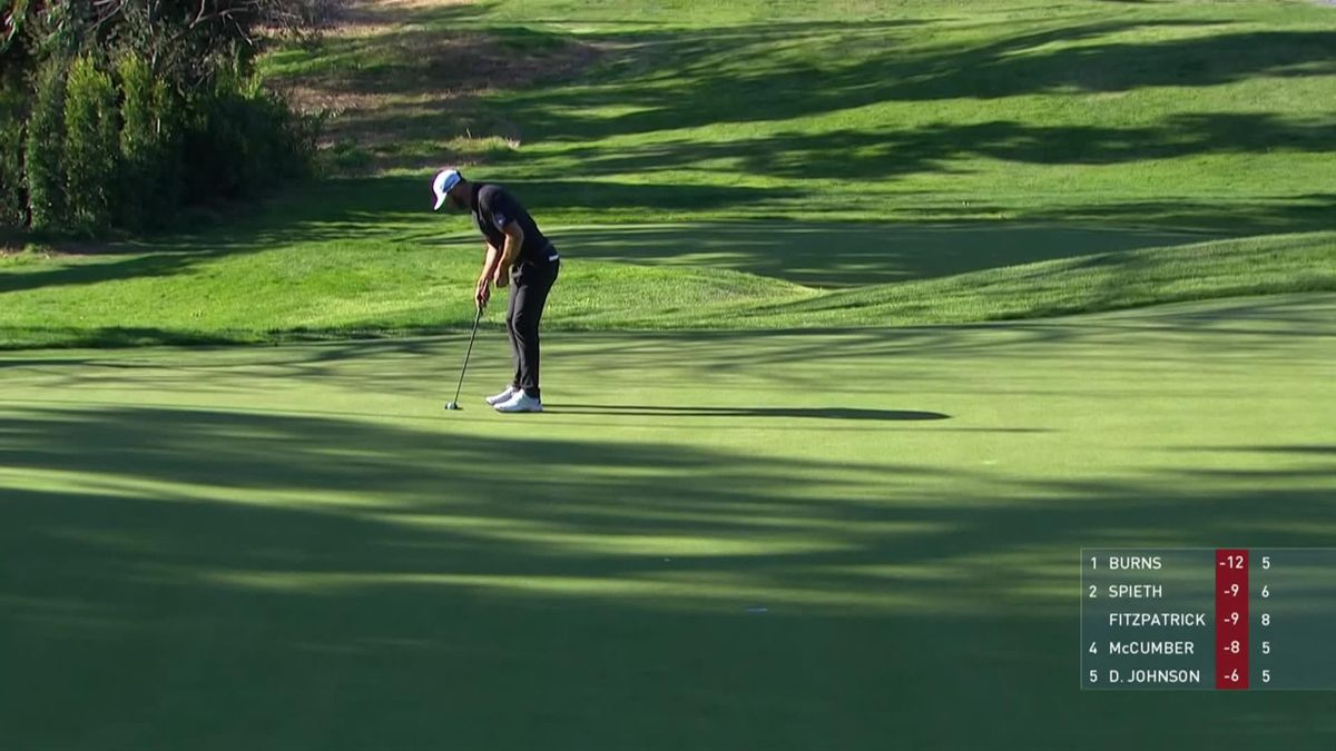 Golf : PGA Tour Genesis invitational Day 3 : Dustin Johnson for a birdie
