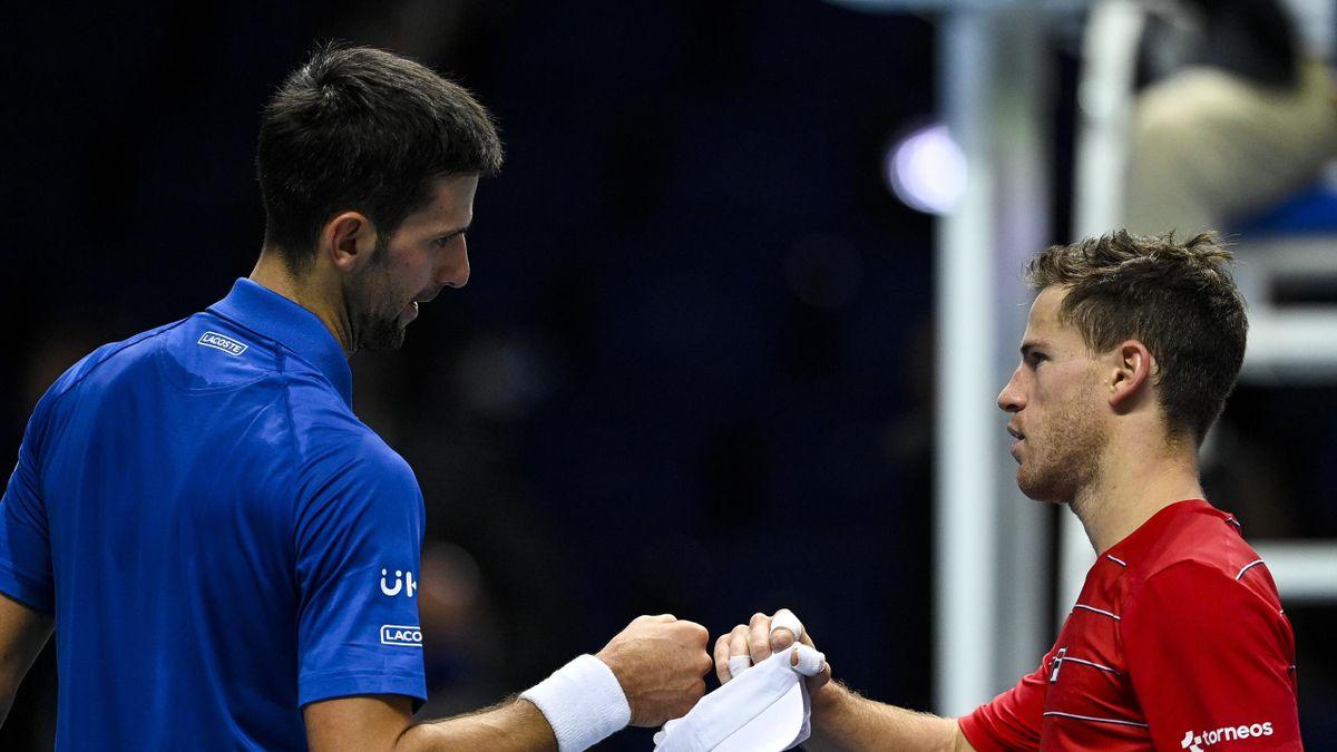 Novak Djokovic și Diego Schwartzman, la Turneul Campionilor