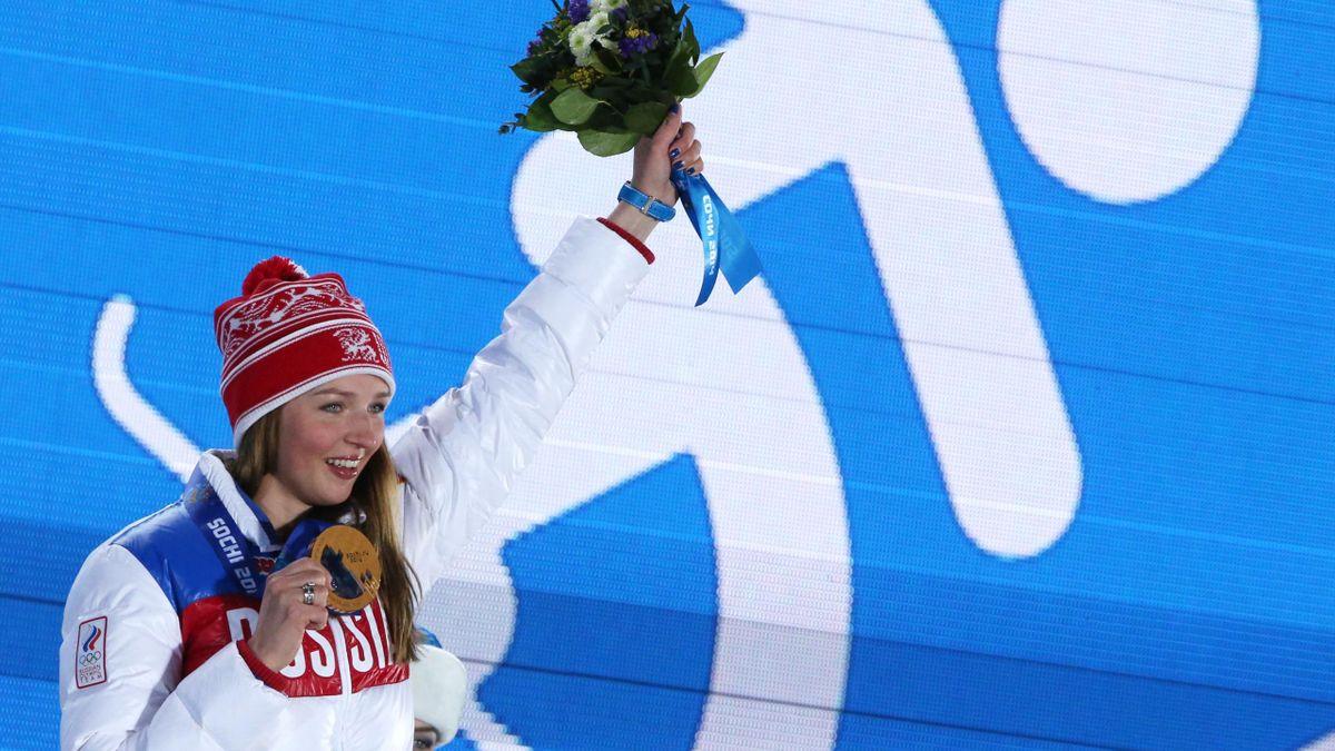 Алена Заварзина с бронзовой медалью Олимпийских игр-2014