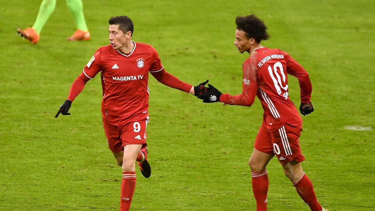 Robert Lewandowski y Leroy Sané (Bayern)