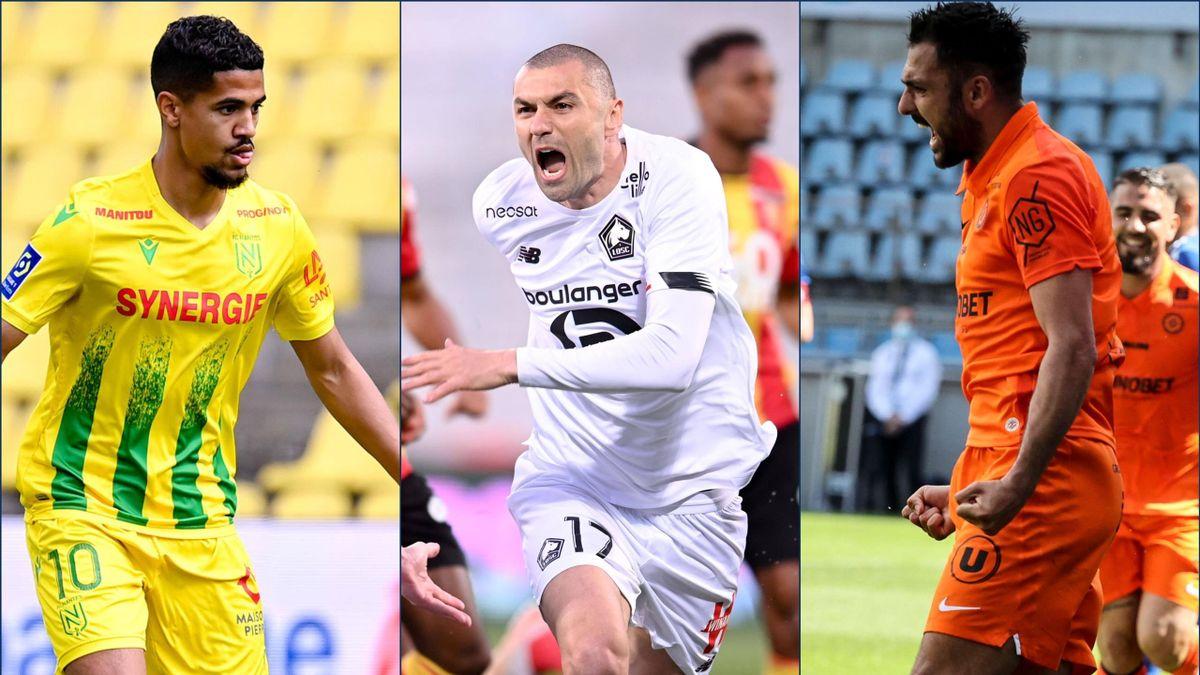 Ludovic Blas (FC Nantes) - Burak Yilmaz (LOSC) - Gaëtan Laborde (Montpellier HSC)
