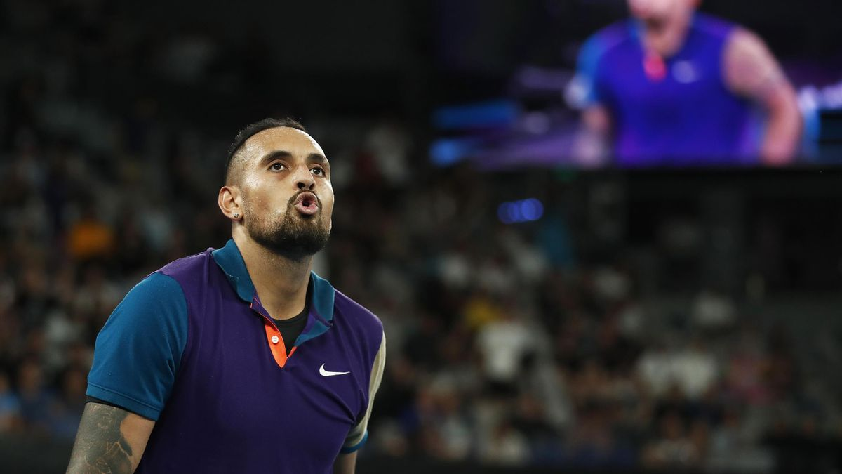 Nick Kyrgios of Australia celebrates