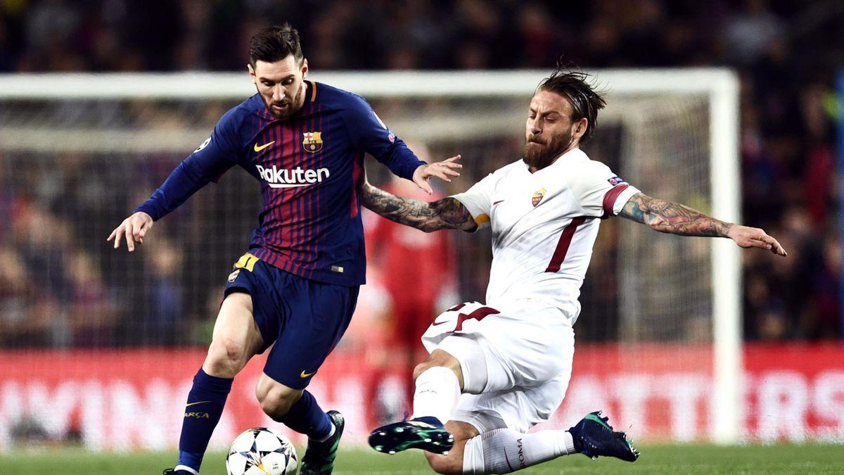 Lionel Messi și Daniele De Rossi, într-un duel Barcelona - Roma