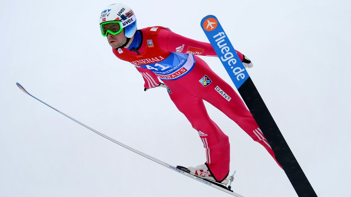 Anders Jacobsen lors du concours de Garmisch (Tournée)