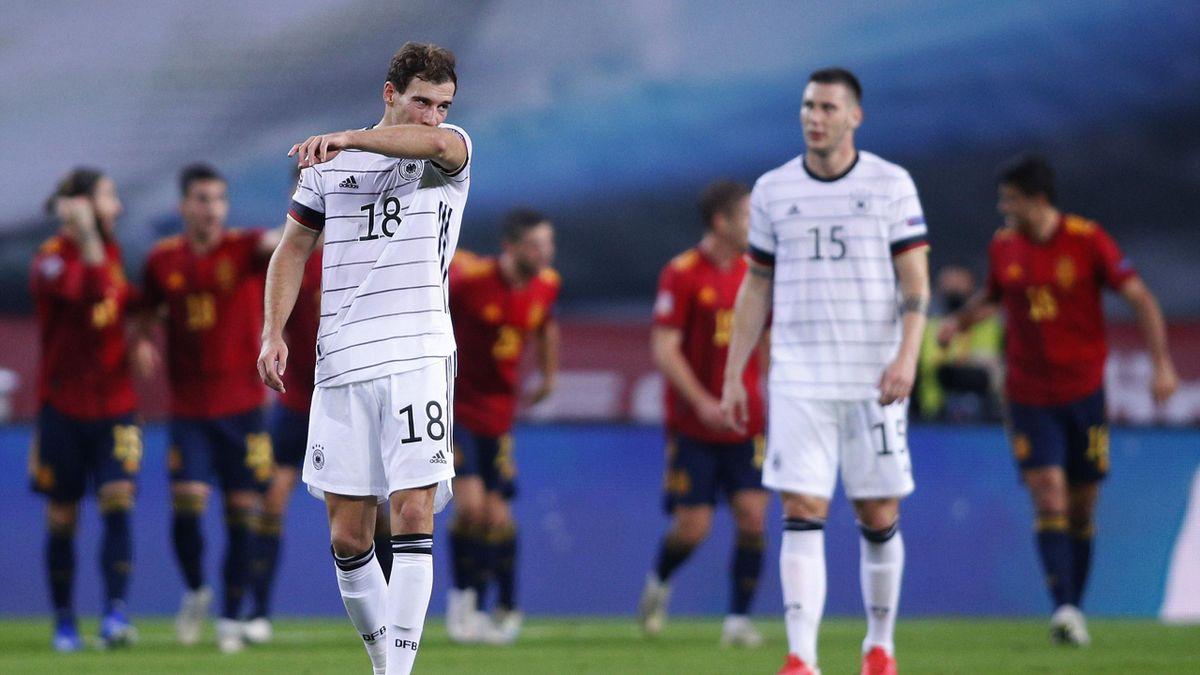 Leon Goretzka e Niklas Sule delusi al termine di Spagna-Germania: 6-0