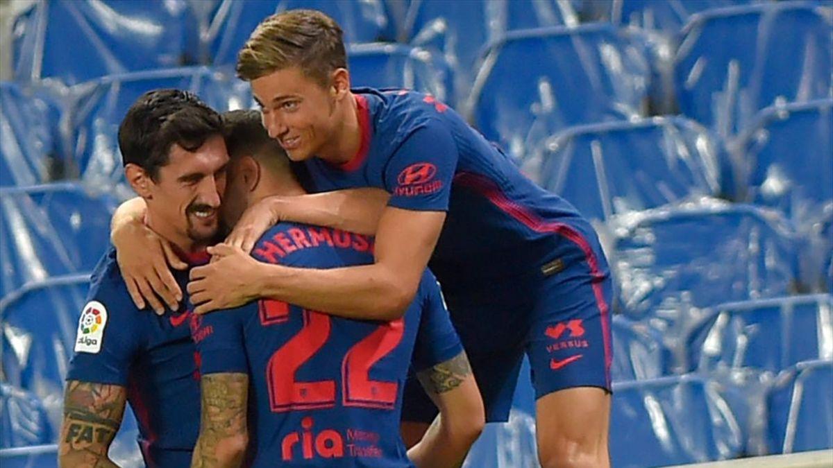 Hermoso, Savic y Llorente Atlético de Madrid Real Sociedad
