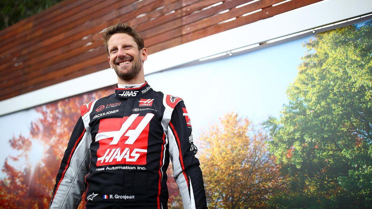 Romain Grosjean (Haas) en marge du Grand Prix d'Australie, le 12 mars 2020