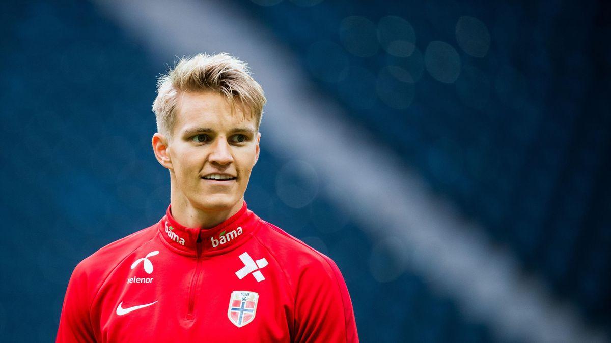 Martin Odegaard, con la selección de Noruega