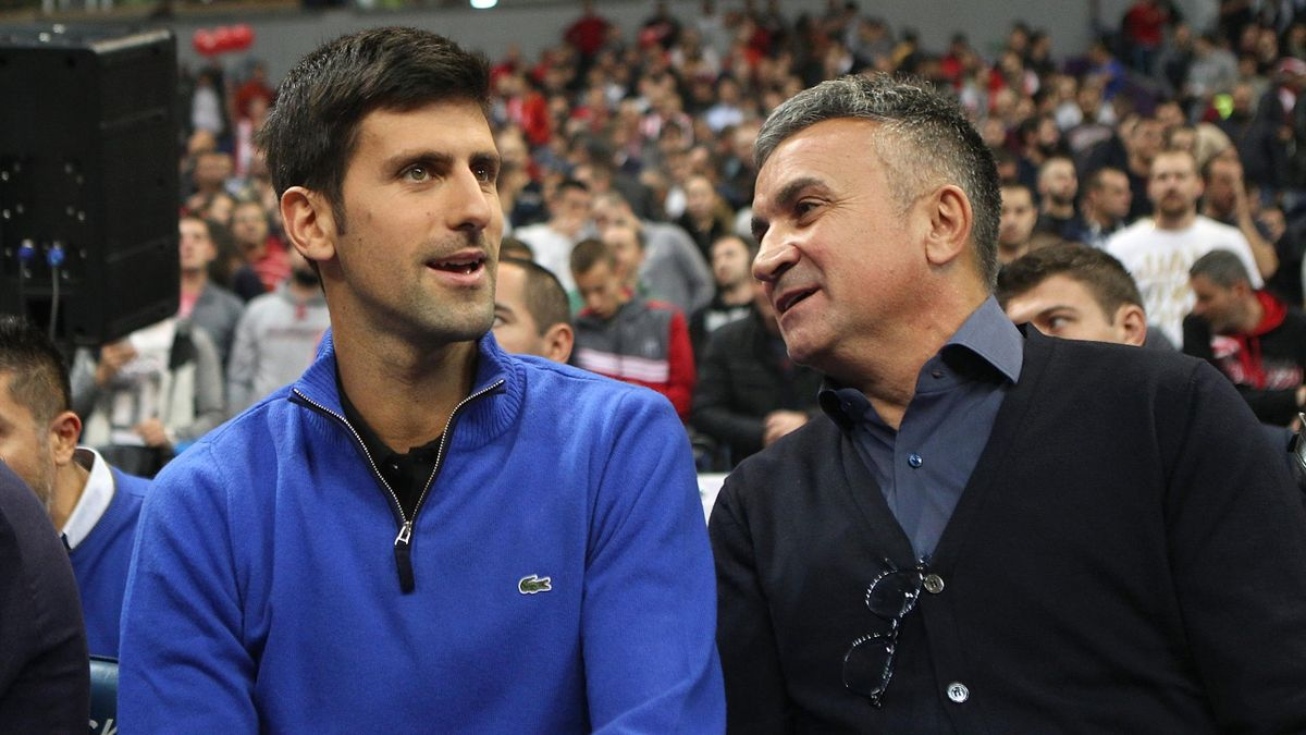 Novak Djokovic și tatăl său, Srdjan. Getty Images