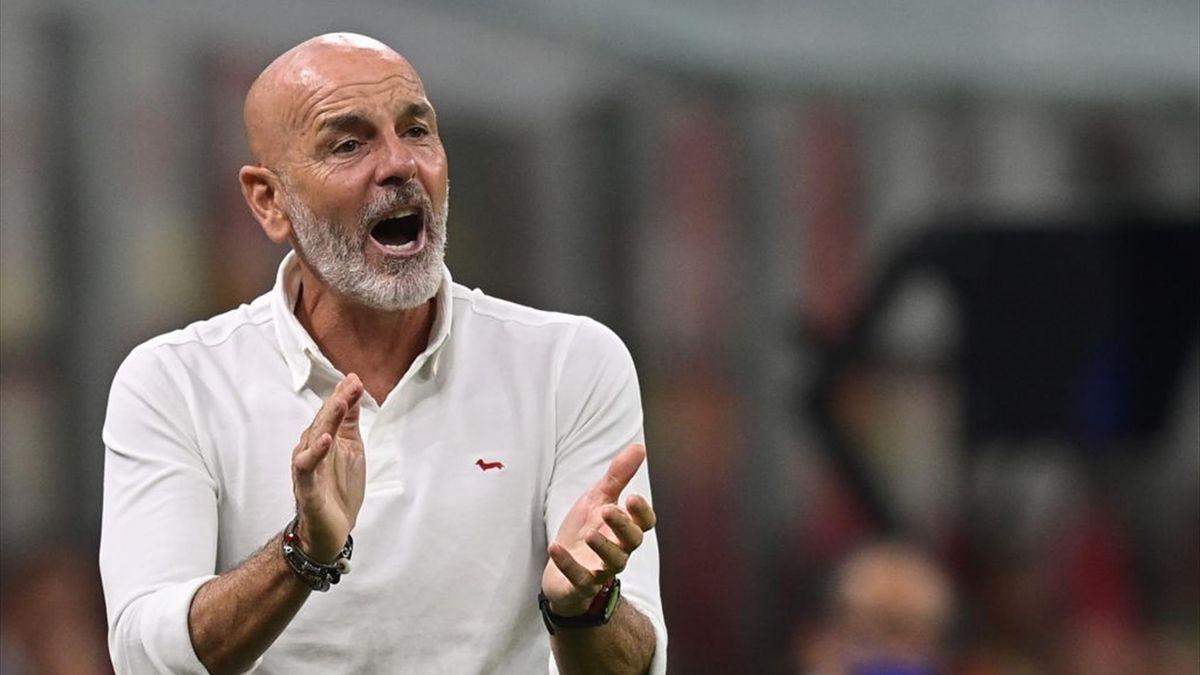 Stefano Pioli durante Milan-Cagliari - Serie A 2021-22