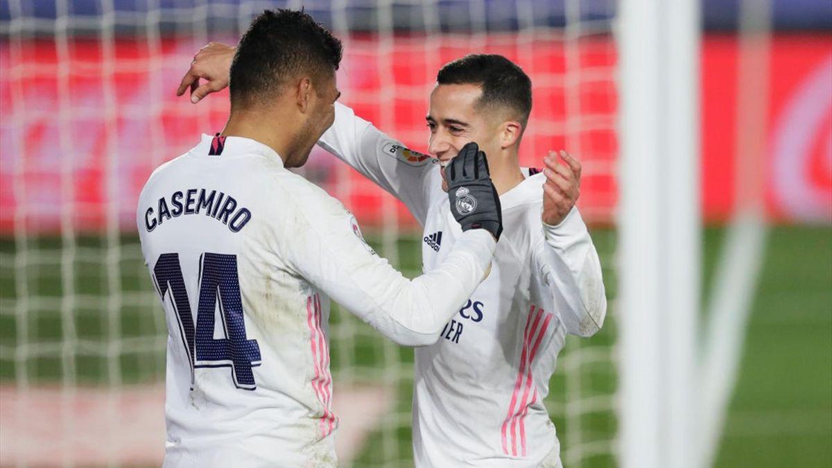 Casemiro, Lucas Vazquez - Real Madrid-Granada - Liga 2020/2021 - Getty Images