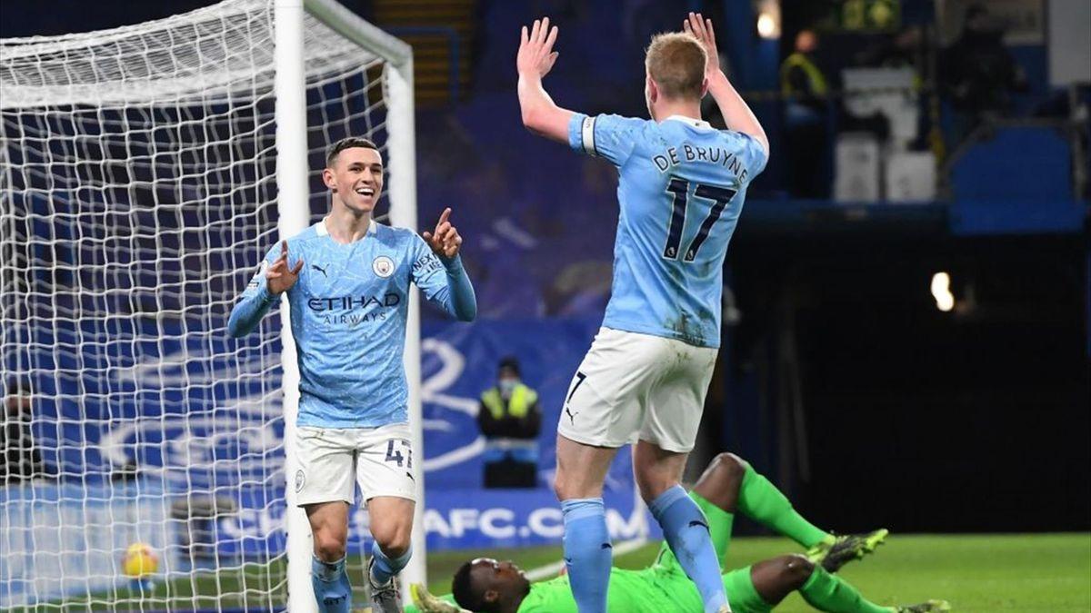 De Bruyne, Foden - Chelsea-Manchester City - Premier League 2020/2021 - Getty Images
