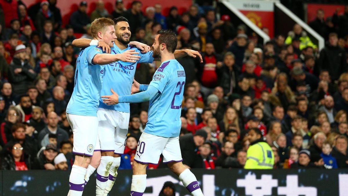 Manchester City freut sich im Spiel gegen Manchester United