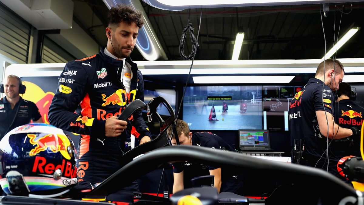 Daniel Ricciardo of Australia and Red Bull Racing prepares to drive during practice for the Formula One Grand Prix of Singapore