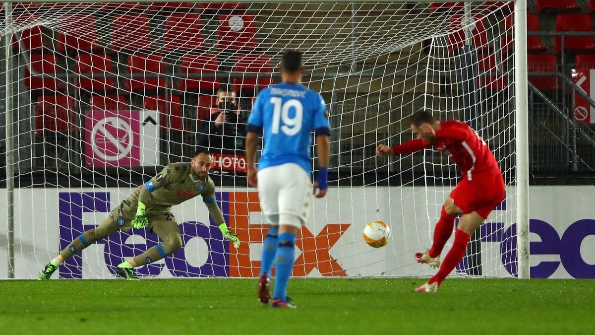 Il rigore respinto da Ospina, AZ-Napoli, Europa League, Getty Images