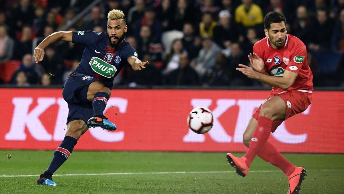 Eric Maxim Choupo-Moting (PSG) face à Dijon en Coupe de France