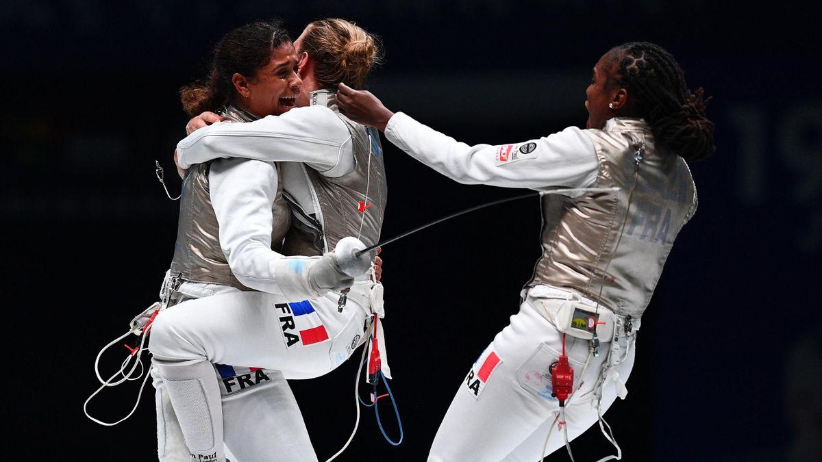 Ysaora Thibus et ses coéquipières, en bronze lors des Mondiaux 2018