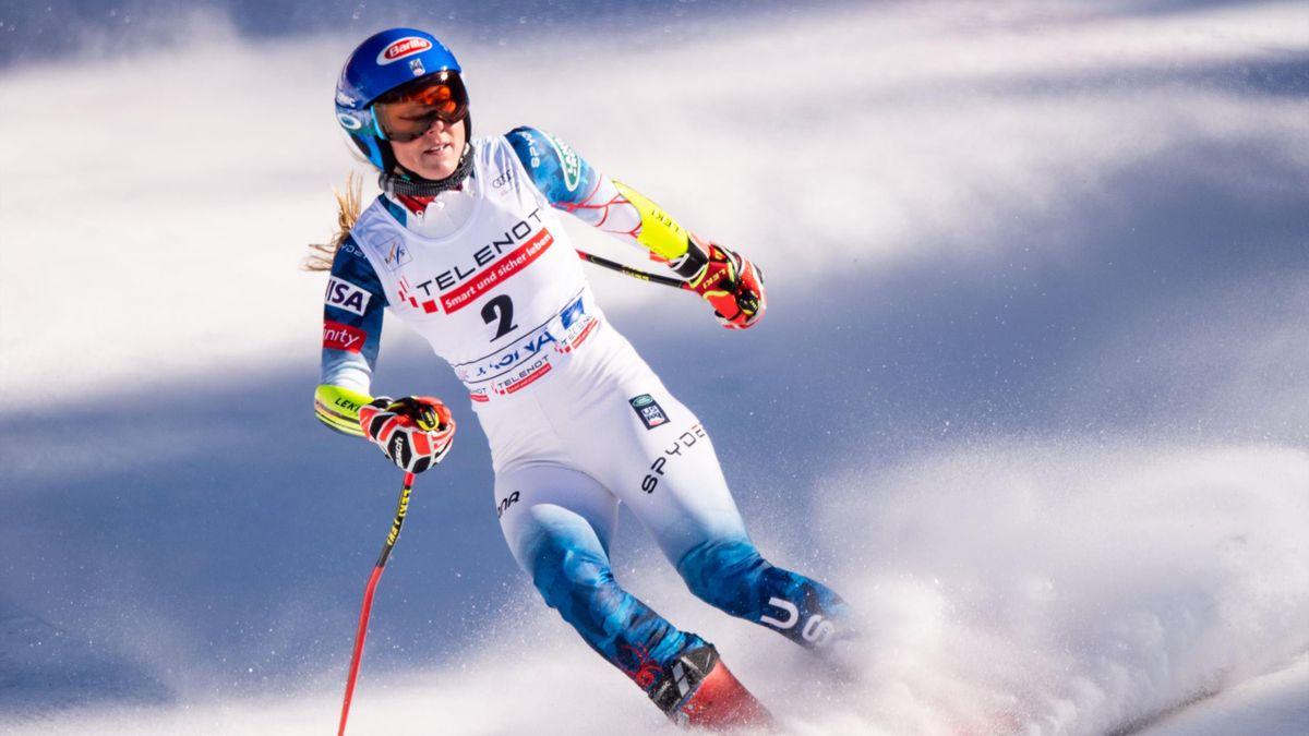 Außer sich vor Wut nach ihrem dritten Platz im Riesenslalom in Jasna: Mikaela Shiffrin