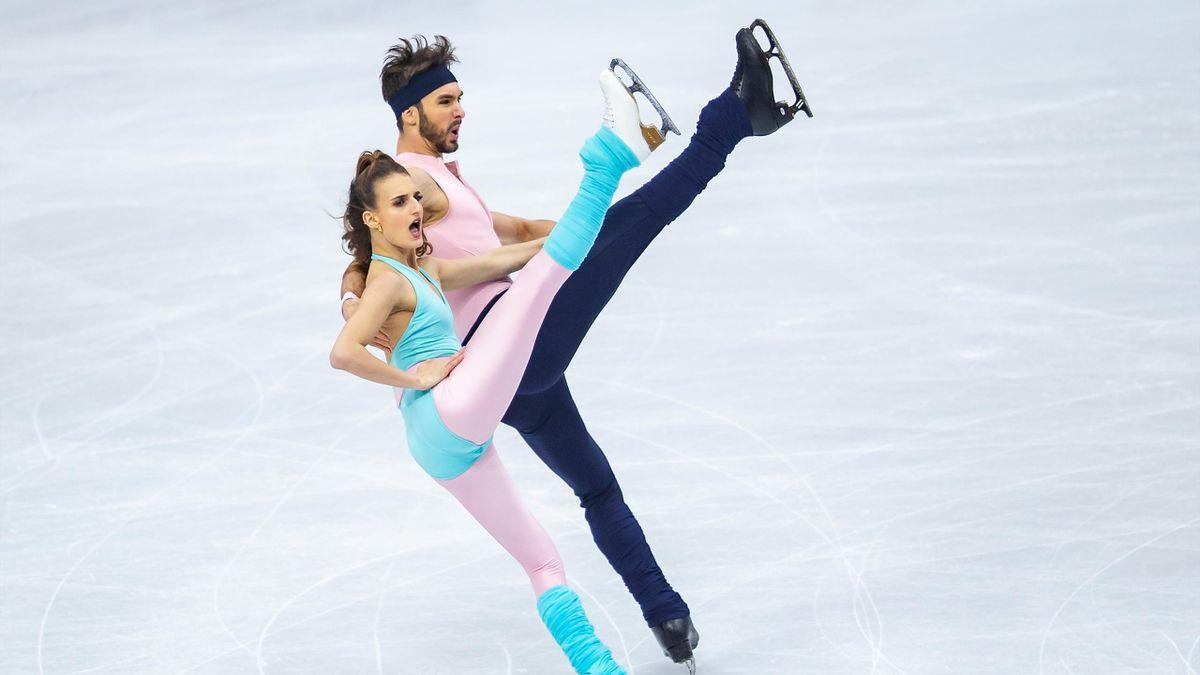 Gabriella Papadakis et Guillaume Cizeron lors de la finale du Grand Prix 2019
