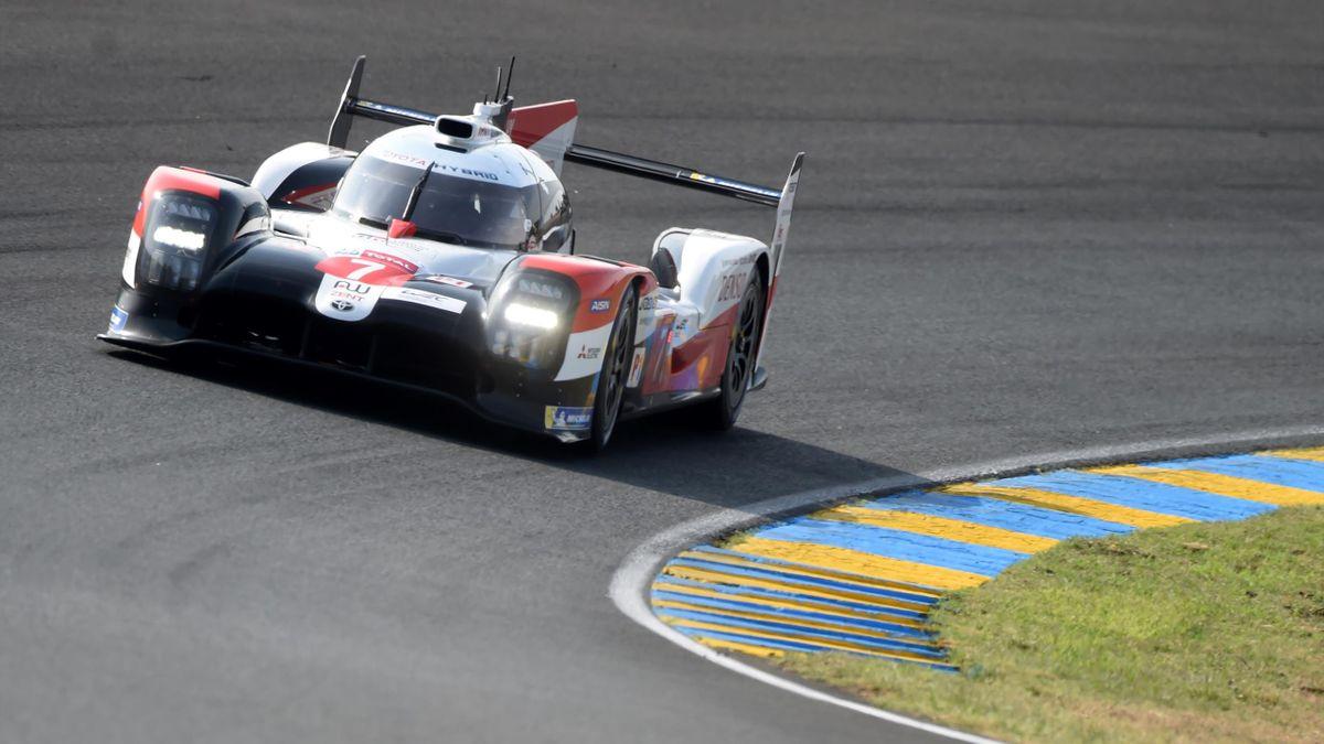 Japan's driver Kamui Kobayashi competes on his Toyota TS050 Hybrid LMP1 WEC N°7