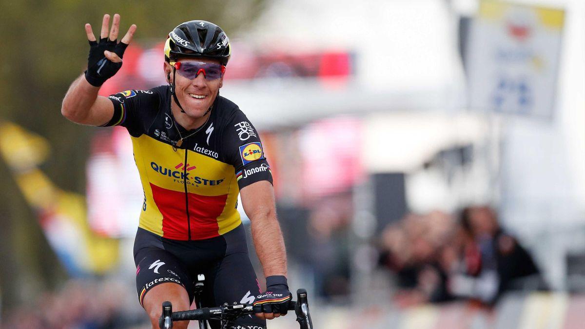 Gilbert celebra la victoria en la Amstel Gold Race