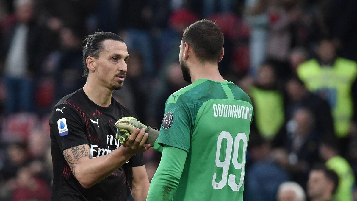 Ibrahimovic și Donnarumma