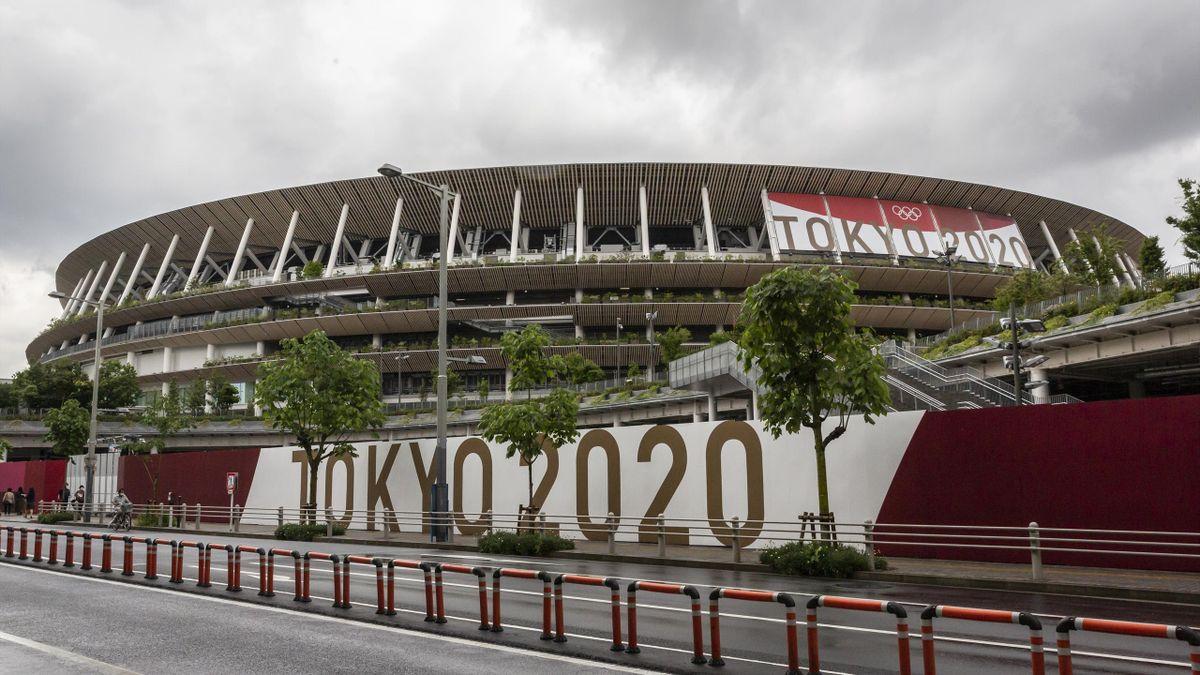 A view of Tokyo 2020 stadium