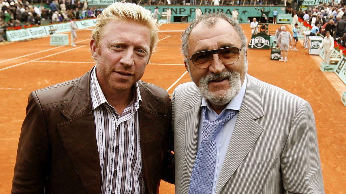 Becker mit seinem ehemaligen Trainer und Manager Tiriac