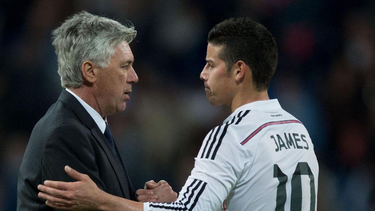 Carlo Ancelotti și James Rodriguez s-au înțeles perfect