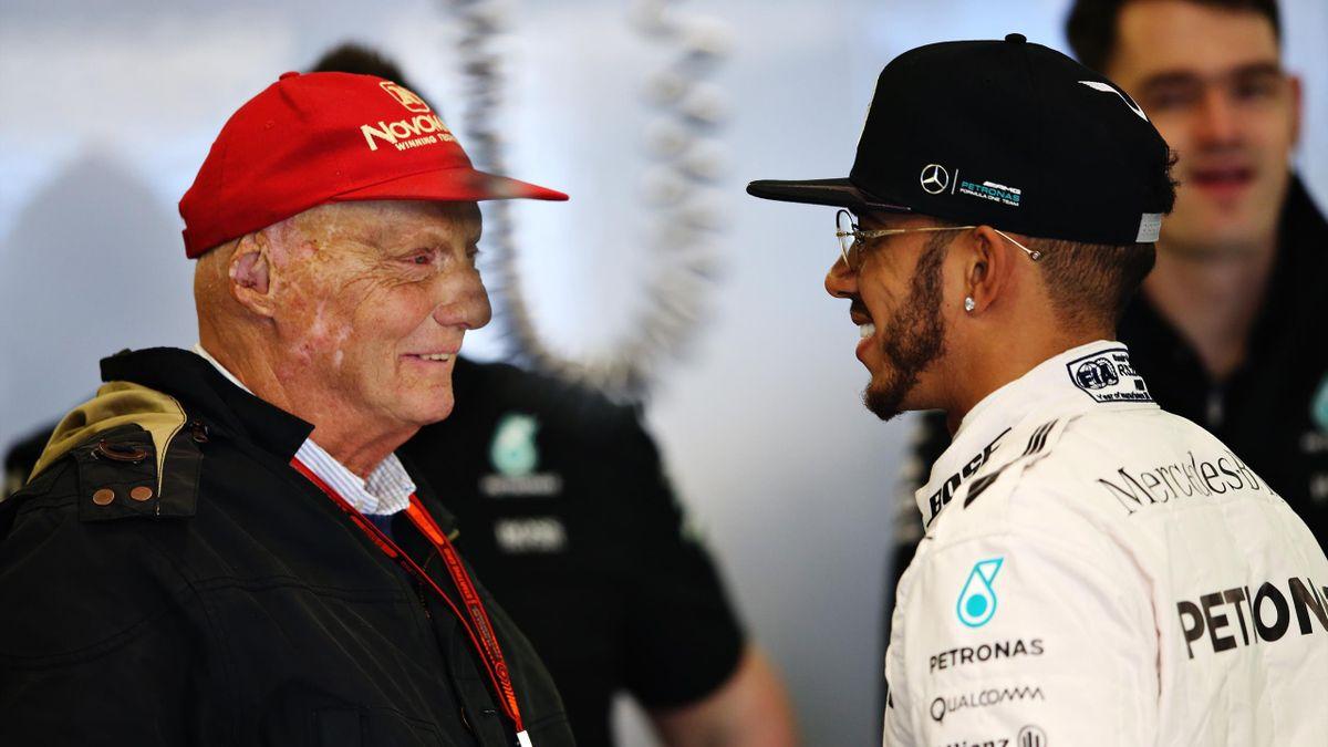 Waren sehr gute Freunde: Niki Lauda (links) und Lewis Hamilton