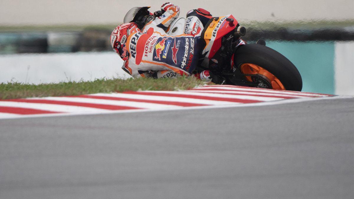 Marc Marquez lors des qualifs du GP de Malaisie