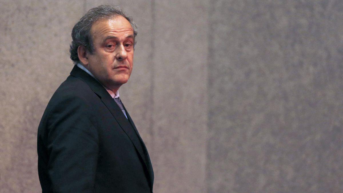 Michel Platini lors du tirage au sort de la Ligue Europa en 2015
