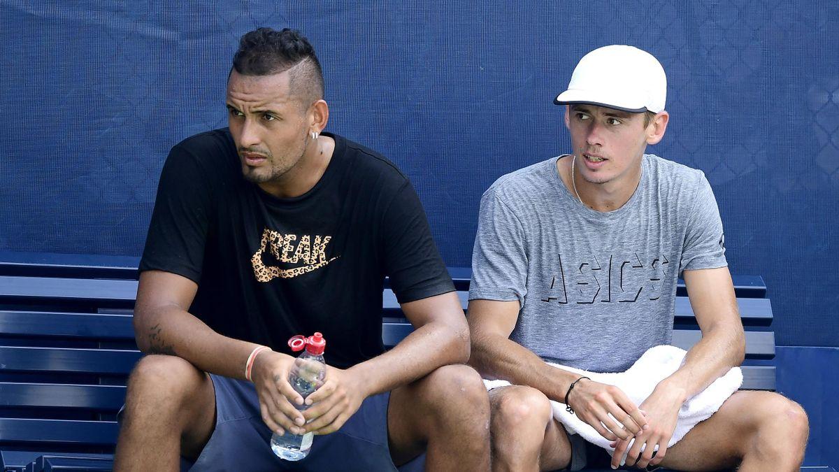 Nick Kyrgios et Alex de Minaur au National Tennis Center de New York le 21 août 2019