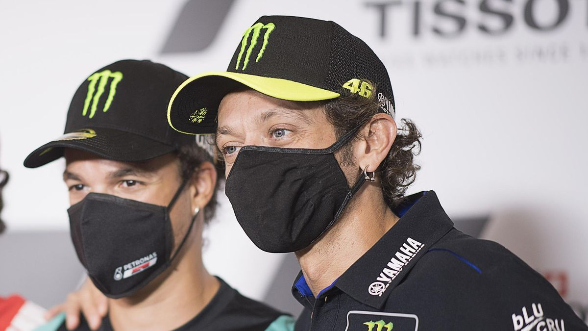 Valentino Rossi insieme a Franco Morbidelli, Getty Images