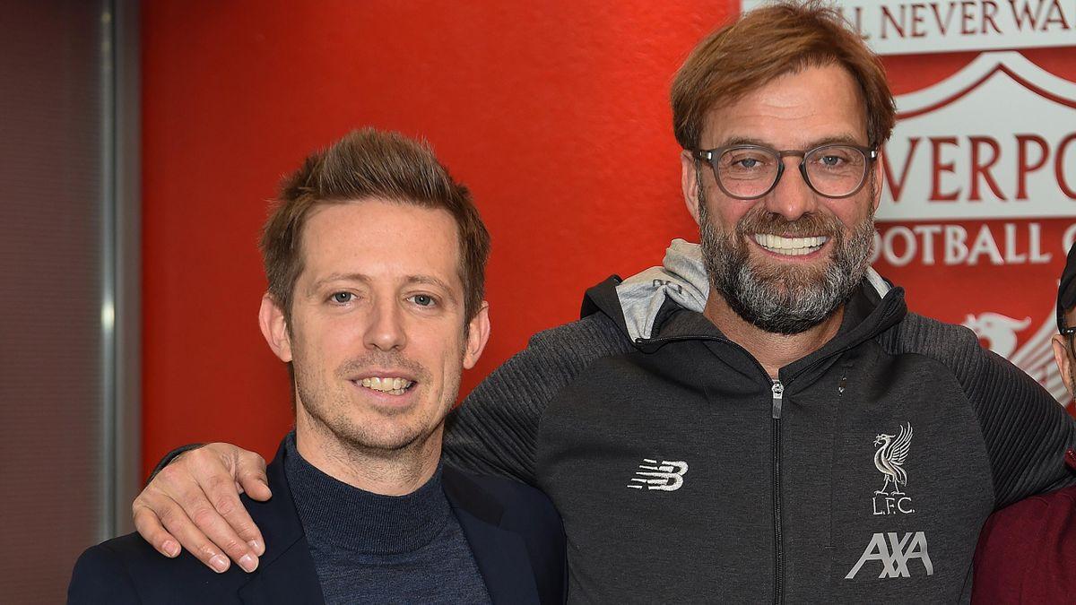 Liverpool sporting director Michael Edwards (left) and manager Jurgen Klopp