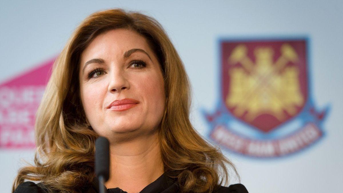 West Ham United Vice Chairman Karren Brady listens to a question during a press conference in east London (Getty Images)