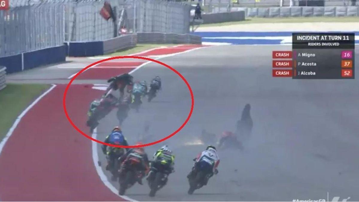 Il pazzesco incidente in Moto3, Credit photo MotoGP
