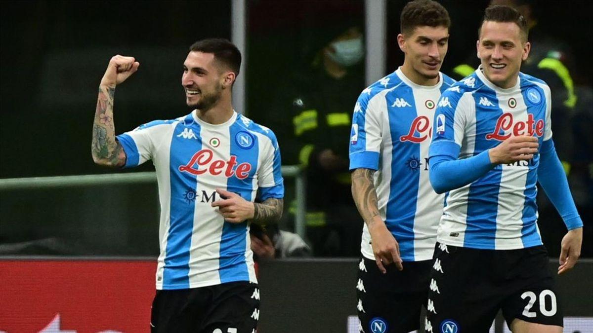 Politano a segno in Milan-Napoli - Serie A 2020/2021 - Getty Images