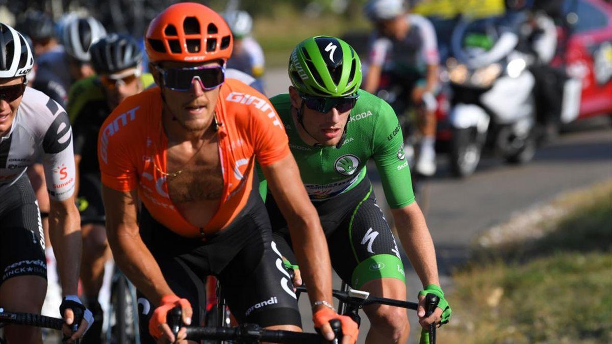 Matteo Trentin, Sam Bennett - Tour de France 2020, stage 19 - Getty Images