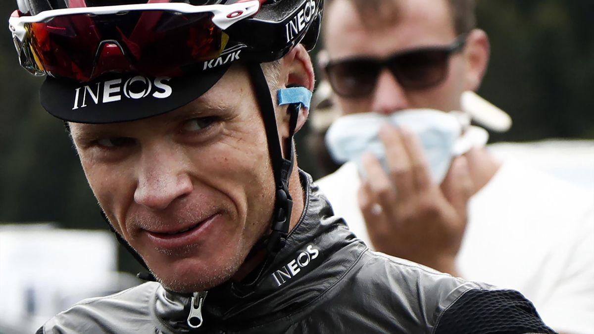 Chris Froome, en marge de la 3e étape de la Route d'Occitanie