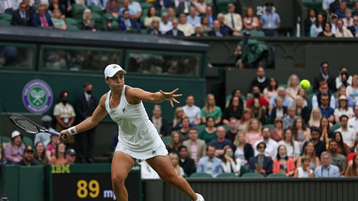 Barty was victorious on centre court