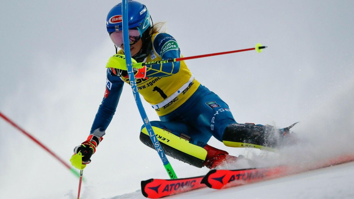 Mikaela Shiffrin lors du slalom de Levi (2020)