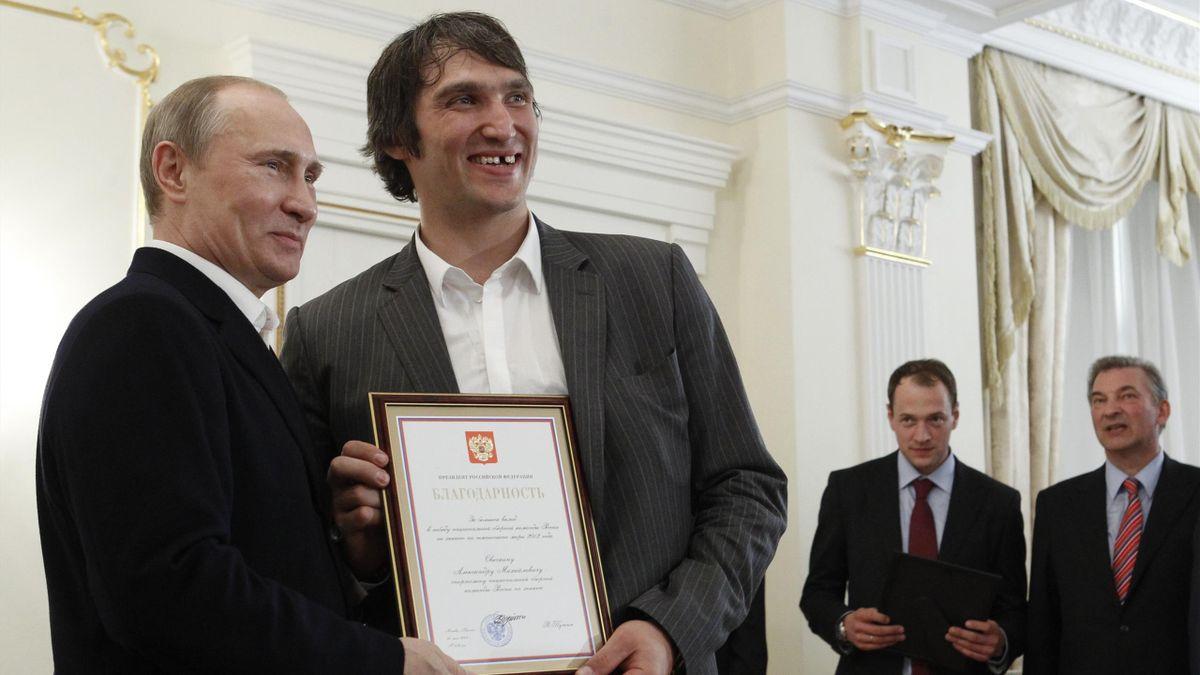 Владимир Путин и Александр Овечкин