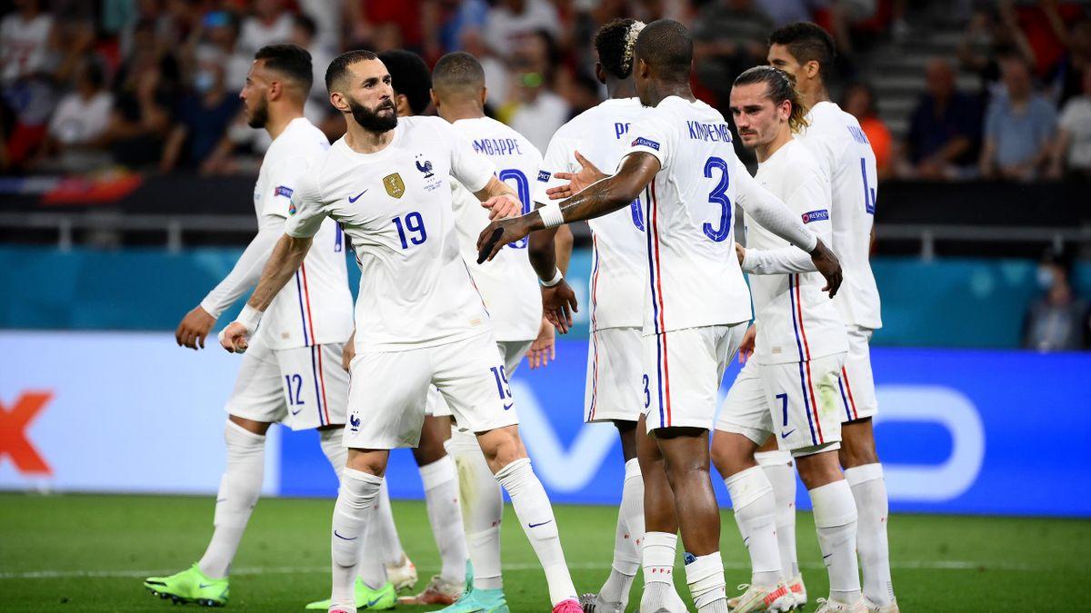 Karim Benzema et les joueurs de l'équipe de France