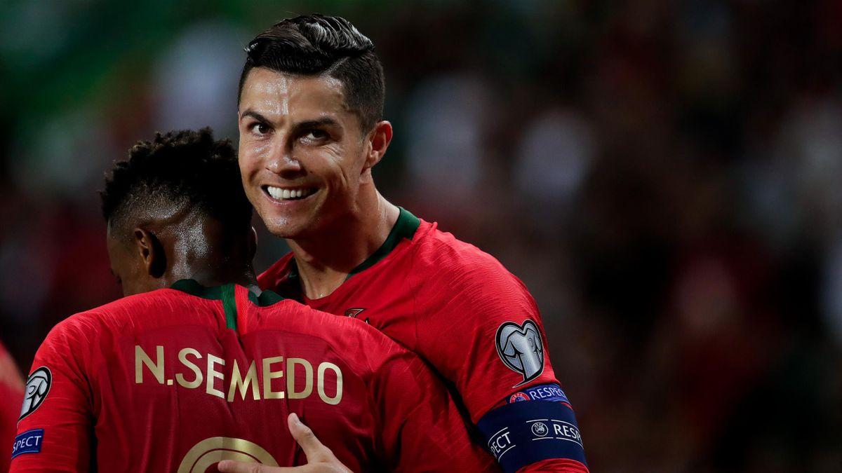 Nelson Semedo y Cristiano Ronaldo (Portugal)