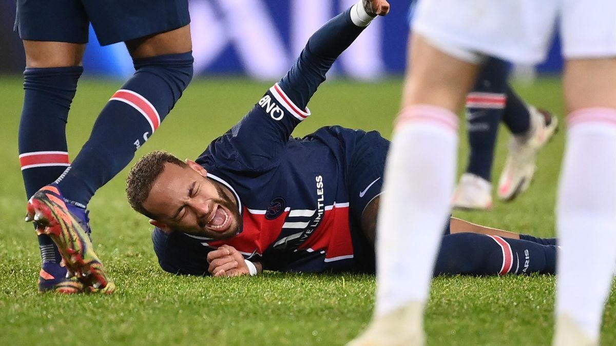 Neymar (PSG) s'est blessé face à l'OL