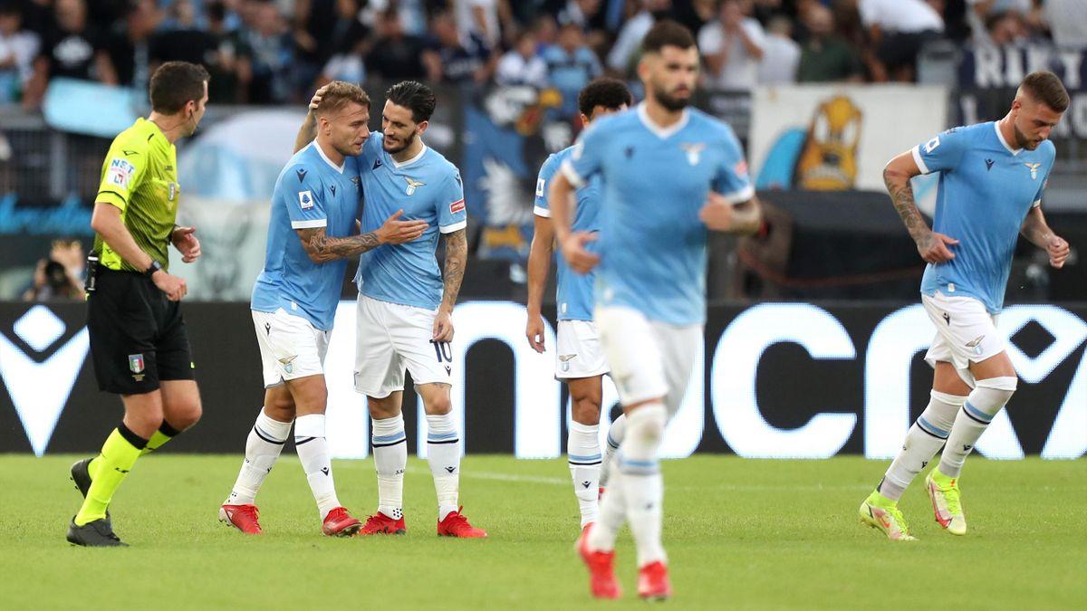 Esultanza Lazio collettiva, Serie A 2021-22, Getty Images