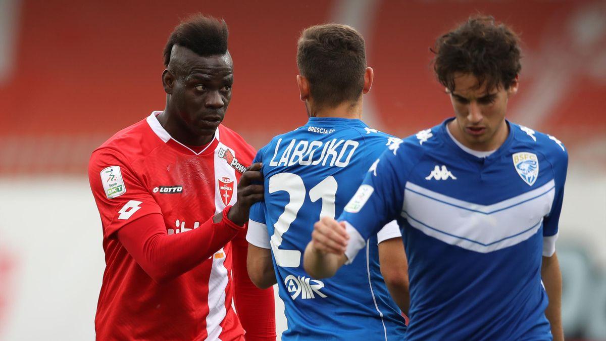Monza-Brescia, Serie B 2020-2021: Mario Balotelli con la maglia del Monza (Getty Images)